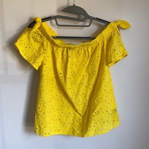 By&By Yellow Top with Decorative Pattern